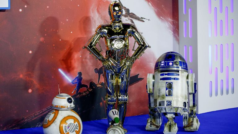 Star Wars characters R2-D2 and C3PO (right and centre) will get spinoff series