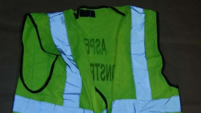 Undated handout photo issued by the Crown Prosecution Service (CPS) of a high-visibility jacket found by police at the home of Stephen O'Rourke. O'Rourke has been found guilty at the Old Bailey in London of the Halloween revenge killing of Rocky Djelal near a children's playground at Southwark Park in south London in broad daylight on October 31 2018
