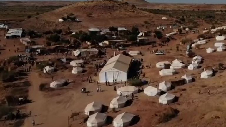 An Ethiopian refugee camp in Sudan
