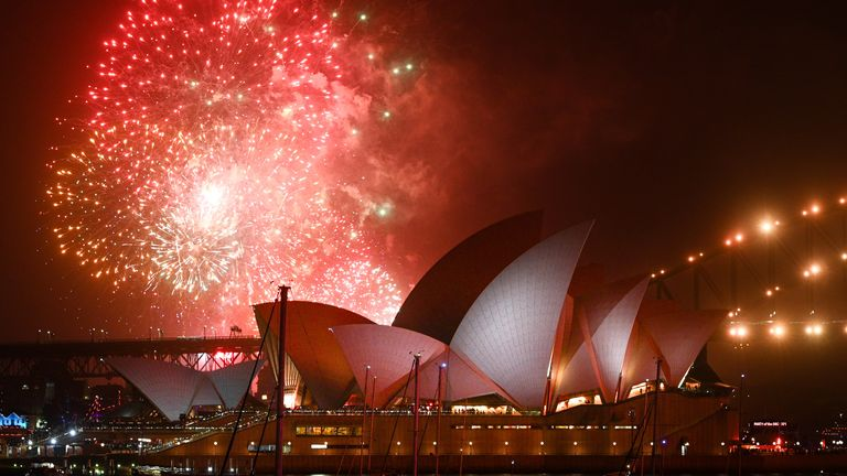 2019 New Year's Eve fireworks in Sydney
