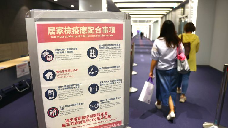 Taiwan has implemented strict quarantine measures for foreign travellers