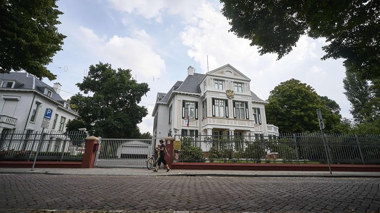The Russian embassy in The Hague. File pic