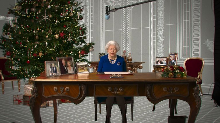 The Queen will reveal what she and Philip have been up to in lockdown and speak about her thoughts on Prince Harry and Meghan Markle's move to the US. Pic: Channel 4