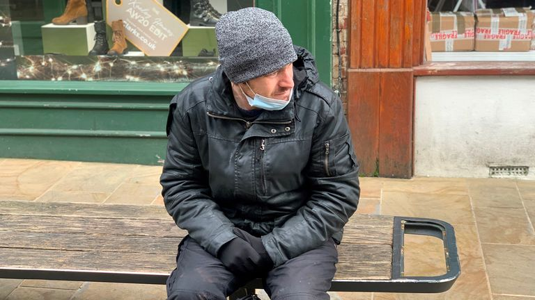 Jay, 32, is homeless and still spends most of time on the streets