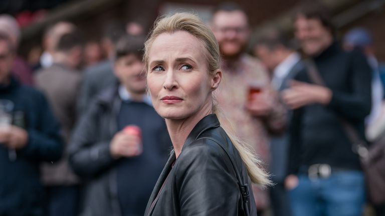 Genevieve O'Reilly plays Angela Worth in the gritty drama. Pic: Sky Atlantic