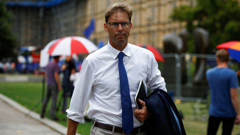 British MP Tobias Ellwood walks outside the Houses of the Parliament in London, Britain August 28, 2019. REUTERS/Henry Nicholls