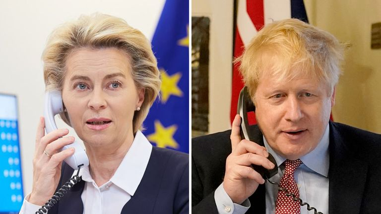 Ursula von der Leyen and Boris Johnson will hold what could be a decisive phone call on Saturday