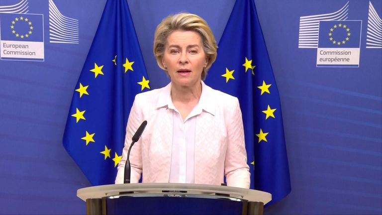 Ursula von der Leyen read out the joint statement