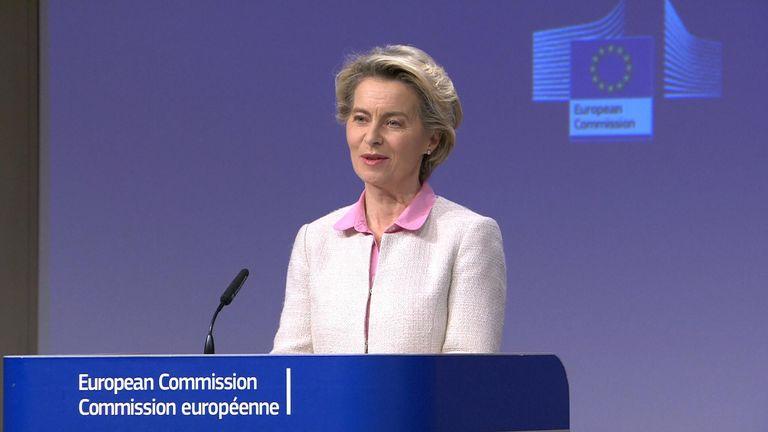 Ursula Von Der Leyen announces Brexit trad edeal