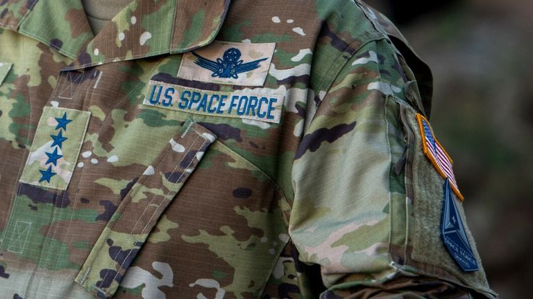 US Space Force insignia on military clothing