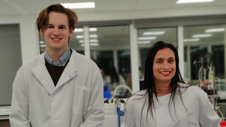 Alex Sheppard (L) and Dr Mona Kab Omir, co-founders of Vatic