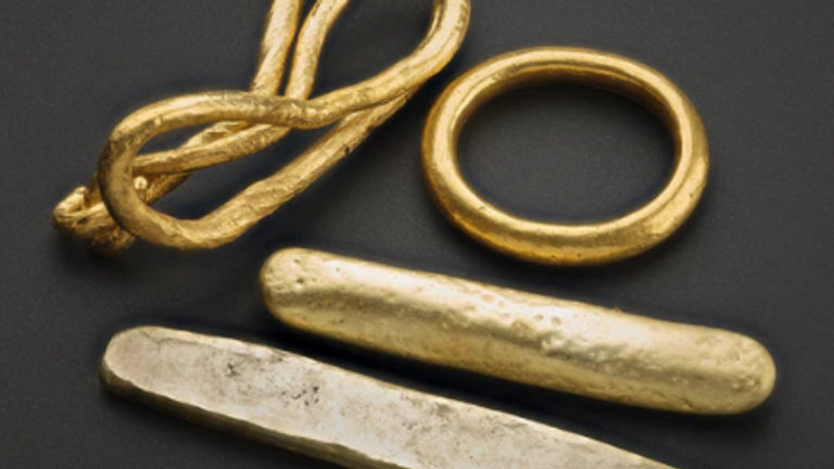 These gold ingots and artefacts are among some of the Viking items that will be on display in Scotland next year