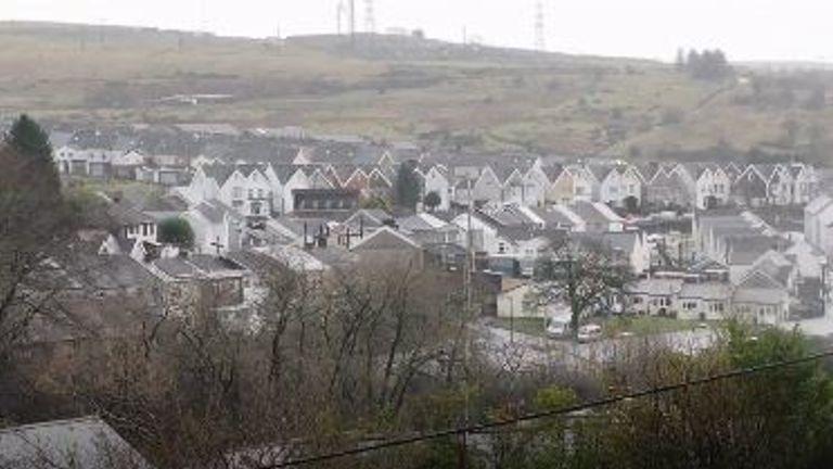 Outskirts of Merthyr Tydfil, Wales