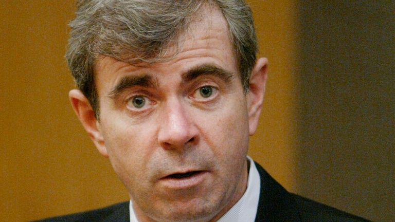 Secretary of the Commonwealth of Massachusetts William Galvin speaks at the Reuters Mutual Funds Summit in Boston in this February 24, 2004