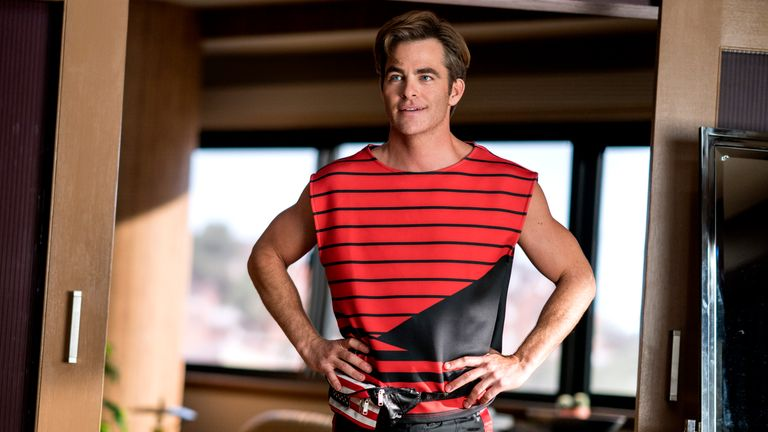 What's better than a 1980s fashion montage starring Chris Pine? Pic: Warner Bros