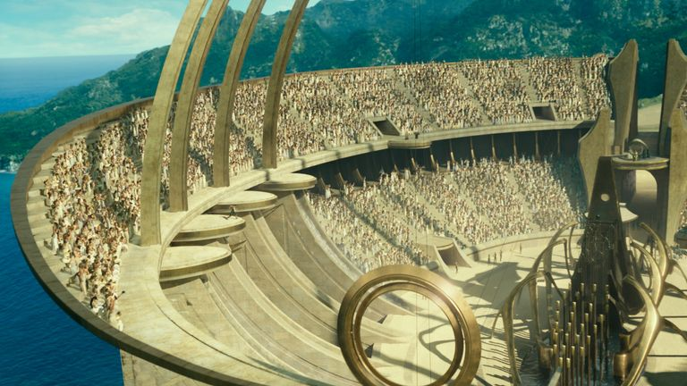 The paradise island of Themyscira - Wonder Woman's home ground. Pic: Warner Bros