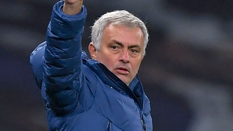 Tottenham boss Jose Mourinho has never lost a home game against Arsenal as a manager