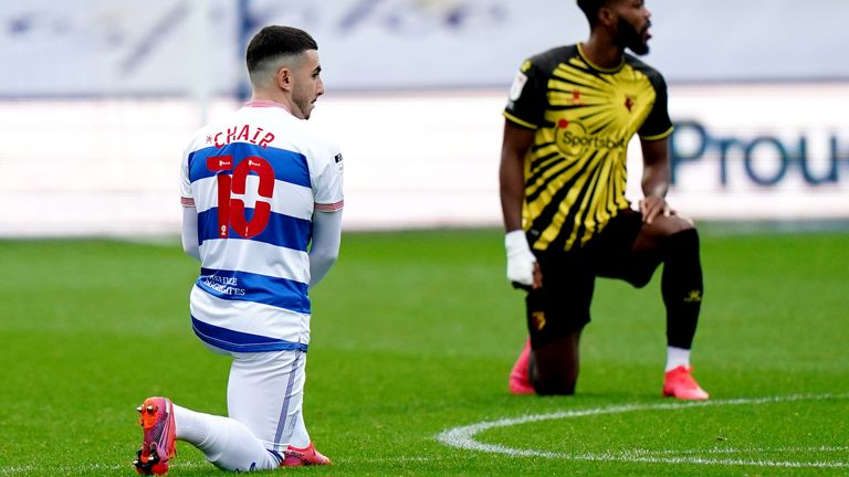QPR's players and staff will take a knee at Millwall on Tuesday