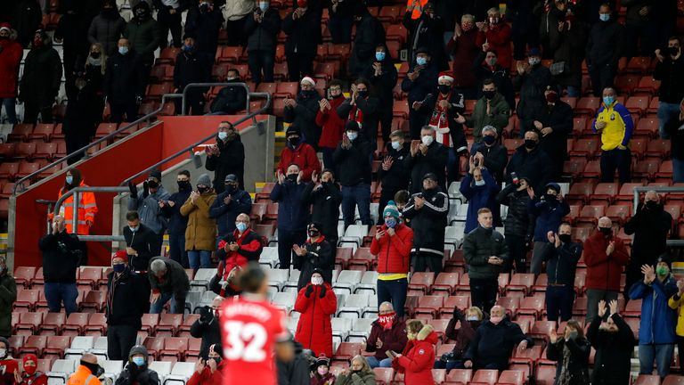 2,000 socially-distanced Southampton fans attended their last home game against Manchester City at St Mary's