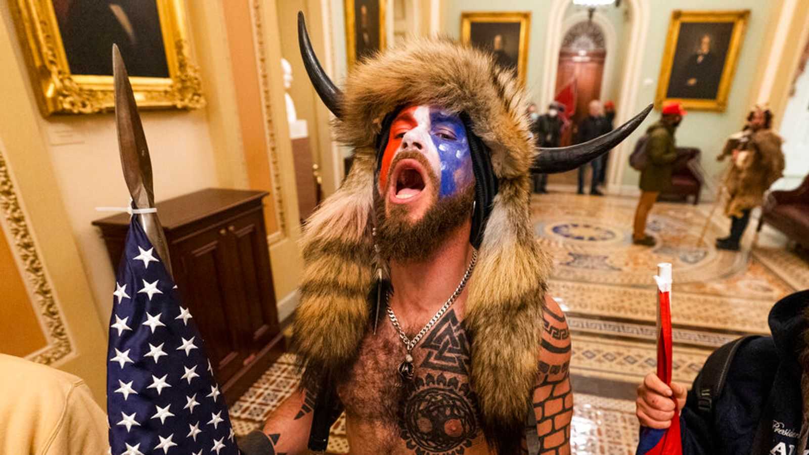 Us Capitol Q Anon Confederate Flag Man And Baked Alaska Here Are The People Who Stormed The Building World News Sky News