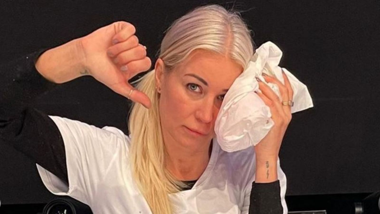 Denise Van Outen could miss Dancing On Ice launch after dislocating her shoulder | Ents & Arts News
