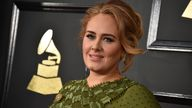 Adele arrives at the 59th annual Grammy Awards at the Staples Center on Sunday, Feb. 12, 2017, in Los Angeles. Pic: AP