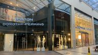 Arcadia's stores in High Wycombe are in the process of being cleared of stock