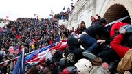 Pro-Trump protesters storm the US Capitol during the rally