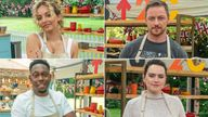Jade Thirlwall, James McAvoy, Dizzee Rascal and Daisy Ridley are among the stars of the new series of The Great Celebrity Bake Off For Stand Up To Cancer. Pic: Channel 4