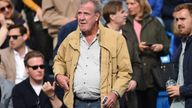 Jeremy Clarkson and son Finlo (R) watch from the stands Action Images via Reuters / Tony O'Brien Livepic EDITORIAL USE ONLY.
