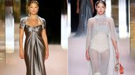 Kate Moss and her daughter Lila. Pics: Fendi/Shutterstock/AP