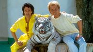 Illusionist duo Siegfried (r) and Roy (l) in Las Vegas on 13 June 1986. Pic: AP
