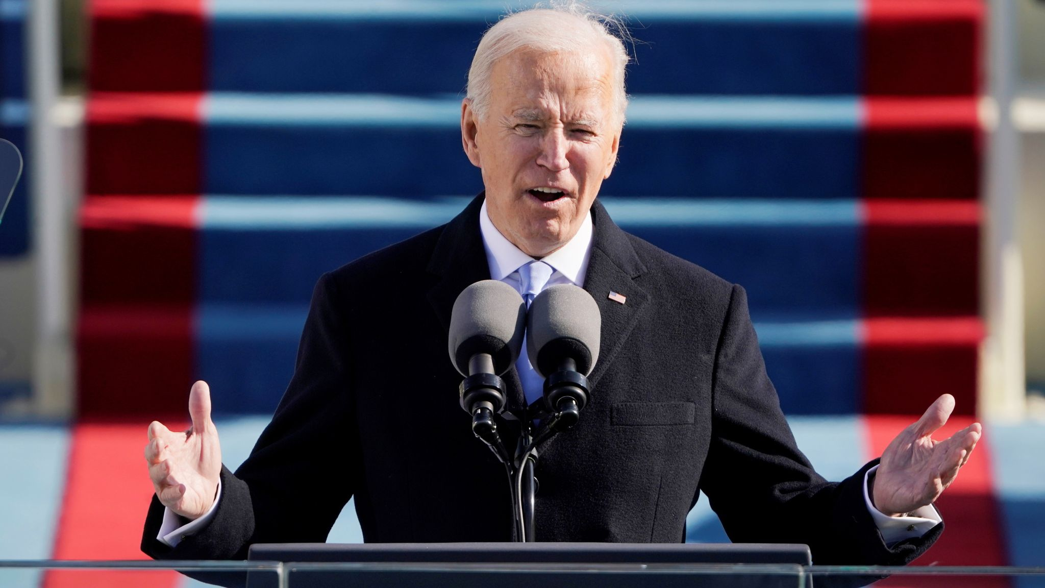 Biden inauguration news live: 'We must stop this uncivil war' - Joe Biden calls for unity in first address as president | US News | Sky News