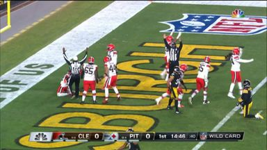 Steelers' botched snap leads to Browns TD