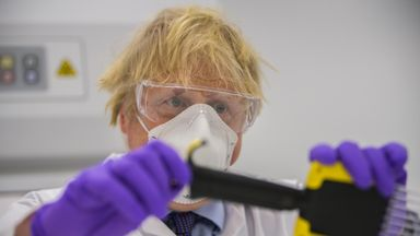 Prime Minister Boris Johnson tried his hand at one of the tests as he visits the French biotechnology laboratory Valneva in Livingston where they will be producing a Covid 19 vaccine on a large scalei, during a visit to Scotland. Picture date: Thursday January 28, 2021.