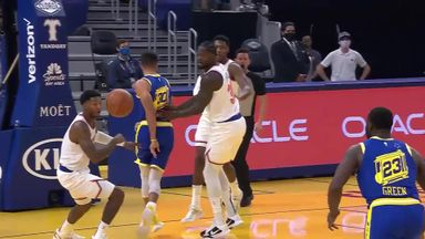Curry's behind-the-back dime to Draymond