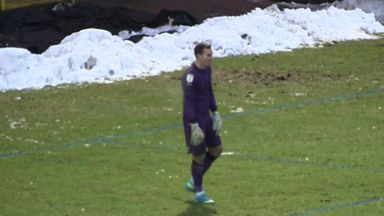 Port Vale goalkeeper's horror moment!
