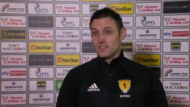 Livingston v Aberdeen ref: Player safety was key