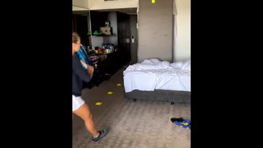 Training for the Aus Open in your bedroom