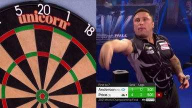 10-Dart finish from Price