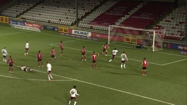 Northampton's stunning 18-yard overhead kick!