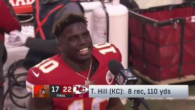 Hill fired up after beating Browns