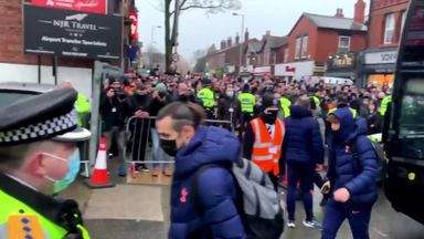 Fans gather as Spurs arrive at Marine