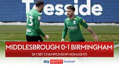 Middlesbrough 0-1 Birmingham