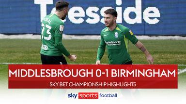 Middlesbrough 0-1 Birmingham