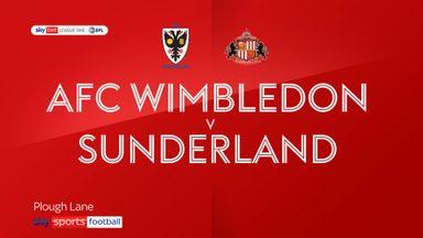 AFC Wimbledon 0-3 Sunderland