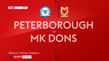Peterborough 3-0 MK Dons