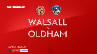 Walsall 1-1 Oldham