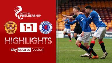 Motherwell 1-1 Rangers