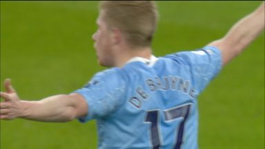 De Bruyne effort blocked (23)